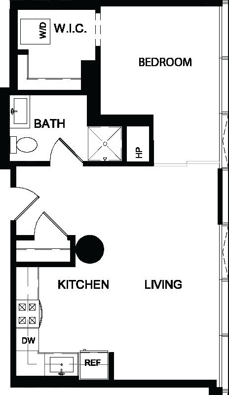 One Bedroom Z floor plan