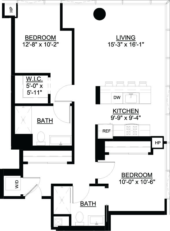 Two Bedroom C floor plan
