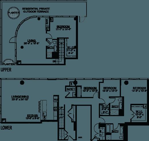 Four Bedroom PH A Terrace floor plan