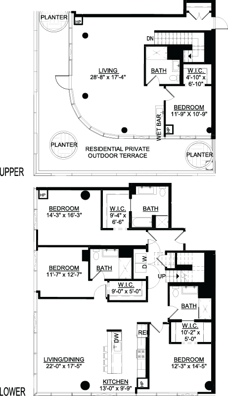 Four Bedroom PH B Terrace floor plan