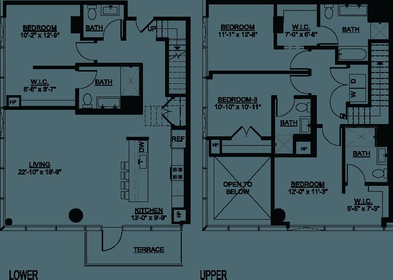 Four Bedroom B Duplex Terrace floor plan