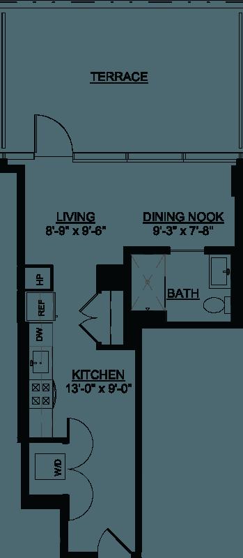 Studio Terrace B floor plan