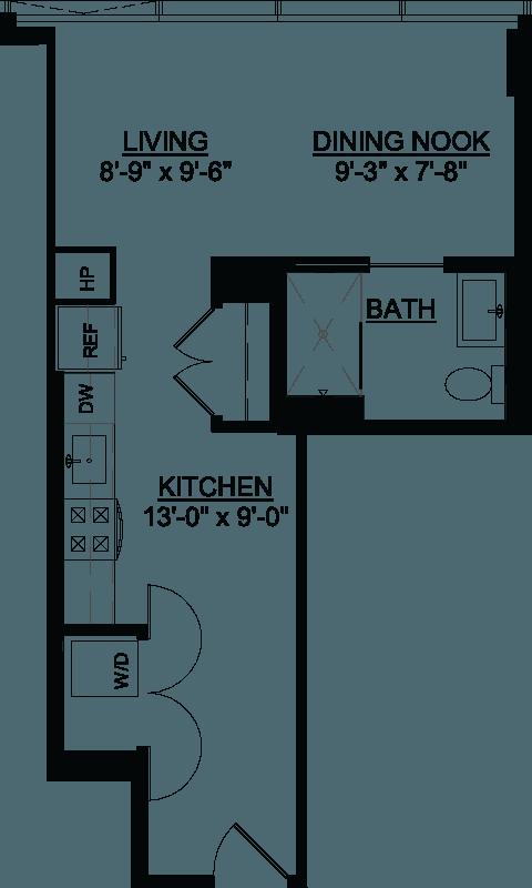 Studio C floor plan