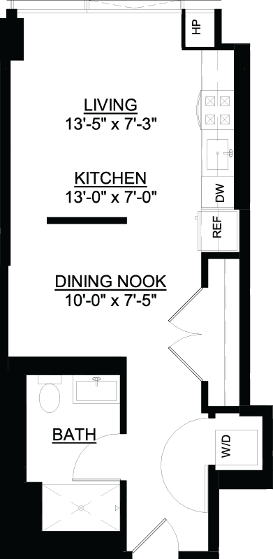 Convertible D floor plan