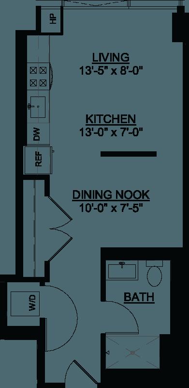 Convertible E floor plan