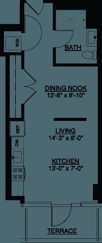 Convertible Terrace F floor plan