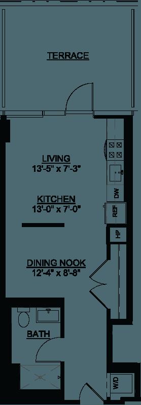 Convertible Terrace G floor plan