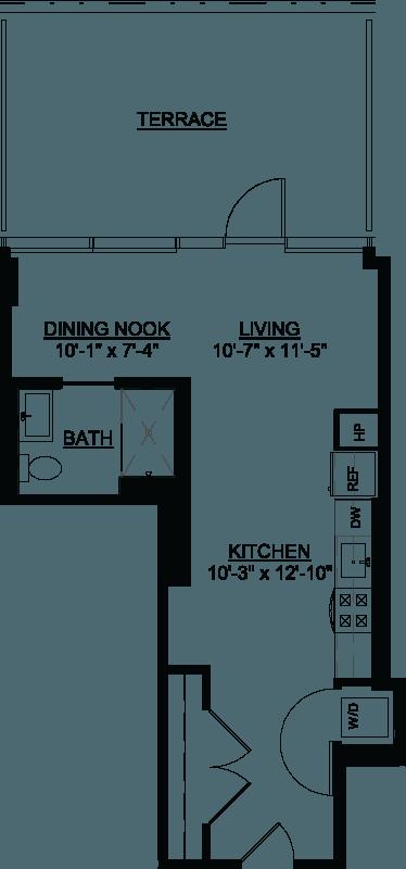 Studio Terrace I floor plan