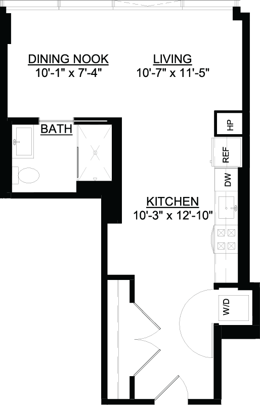 Studio J floor plan