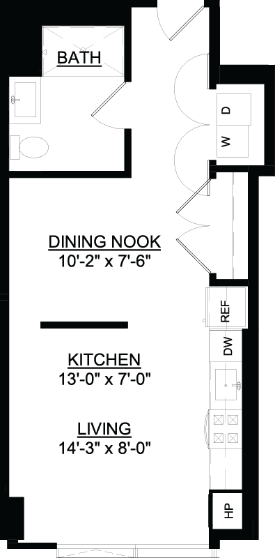 Convertible N floor plan