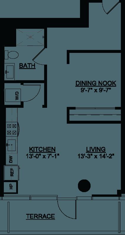 Convertible Deluxe Terrace Q floor plan