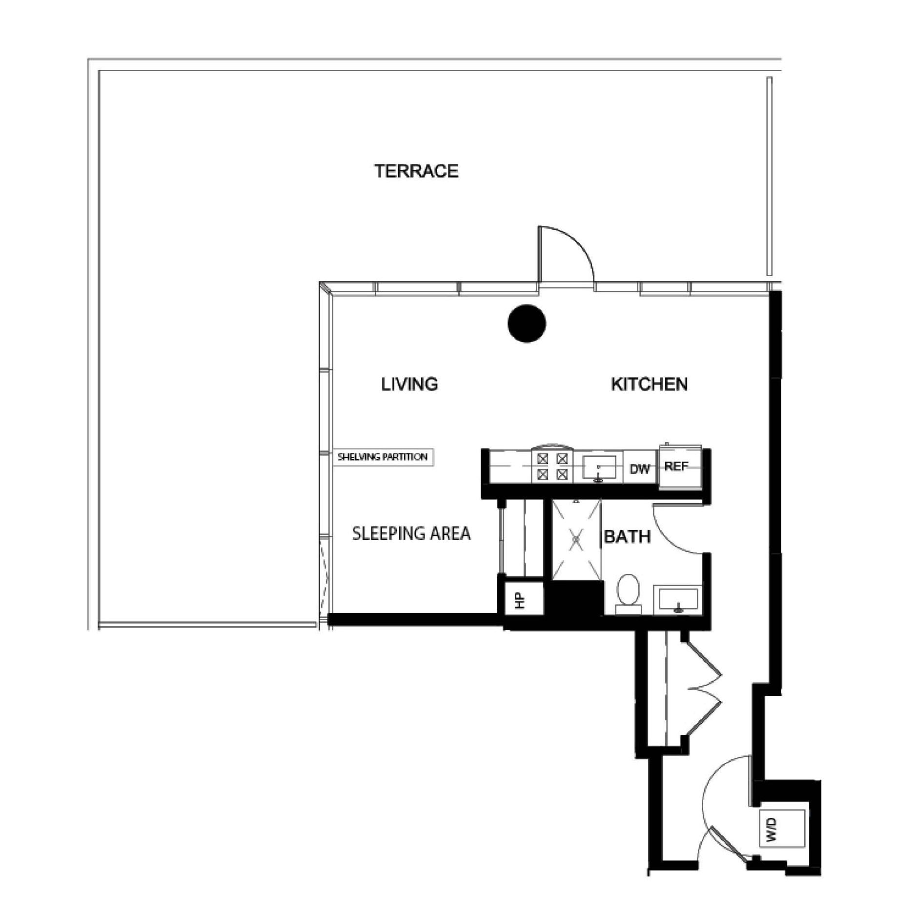 Convertible Deluxe Terrace VB floor plan