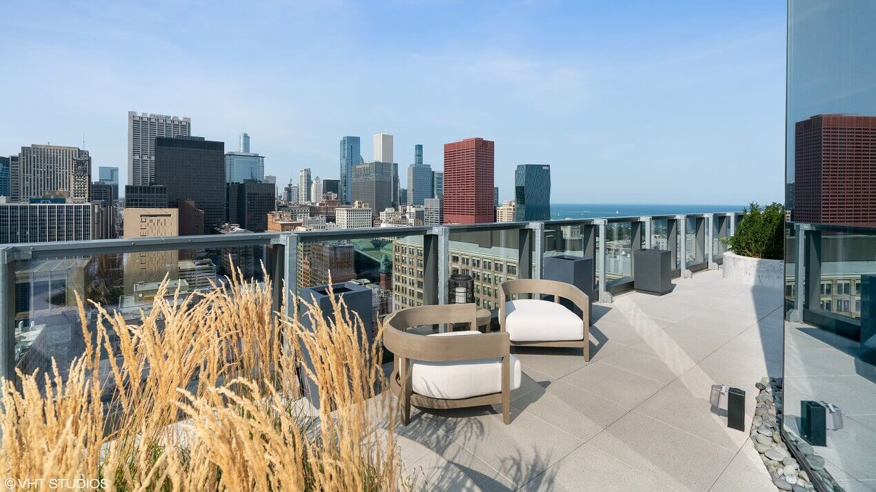 Chicago Penthouse Apartment Living Room